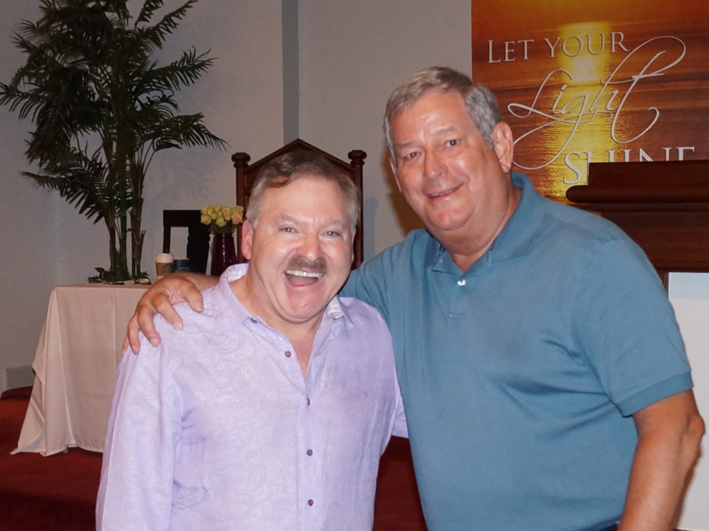 Psychic medium James Van praagh and so Chic medium Chuck Bergman in photograph
